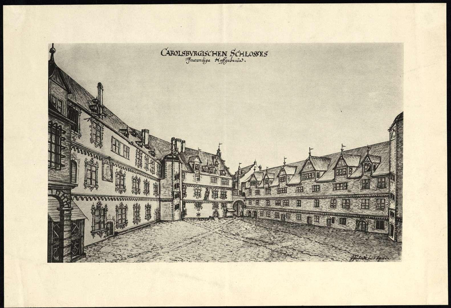 Carolsburgischen Schlosses Inwendige Hoffgebäwd, Bild 1