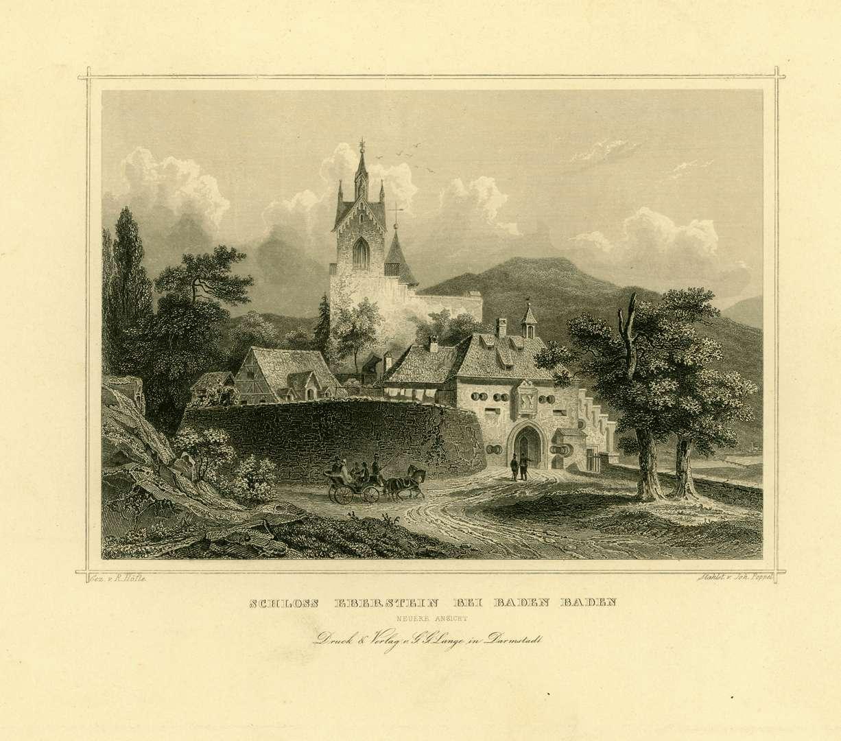 Schloß Eberstein bei Baden-Baden. Neuere Ansicht, Bild 1