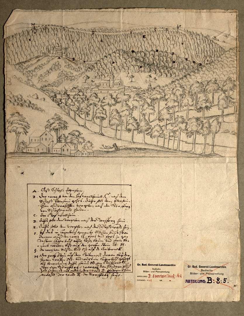 Das Schloß Eberstein und seine Umgebung, Bild 1