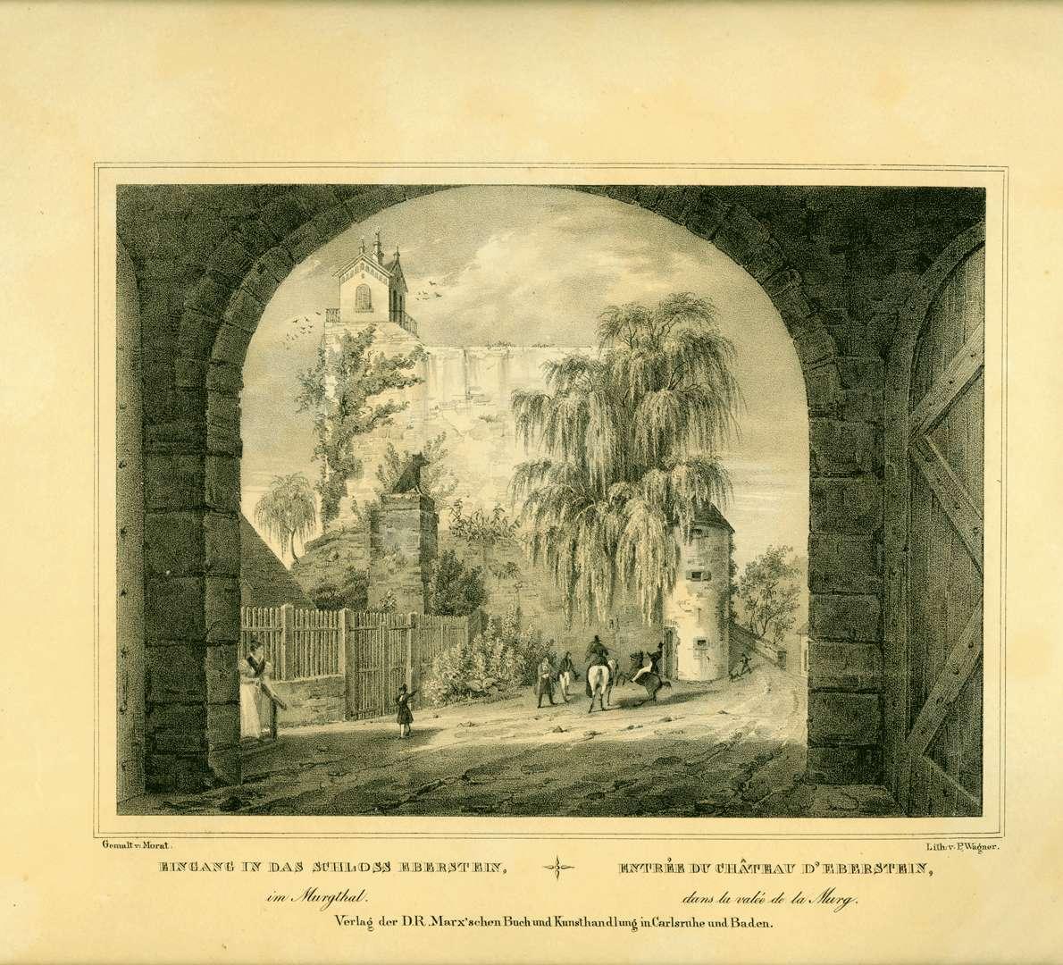 Eingang in das Schloss Eberstein im Murgtal, Entrée du Château d