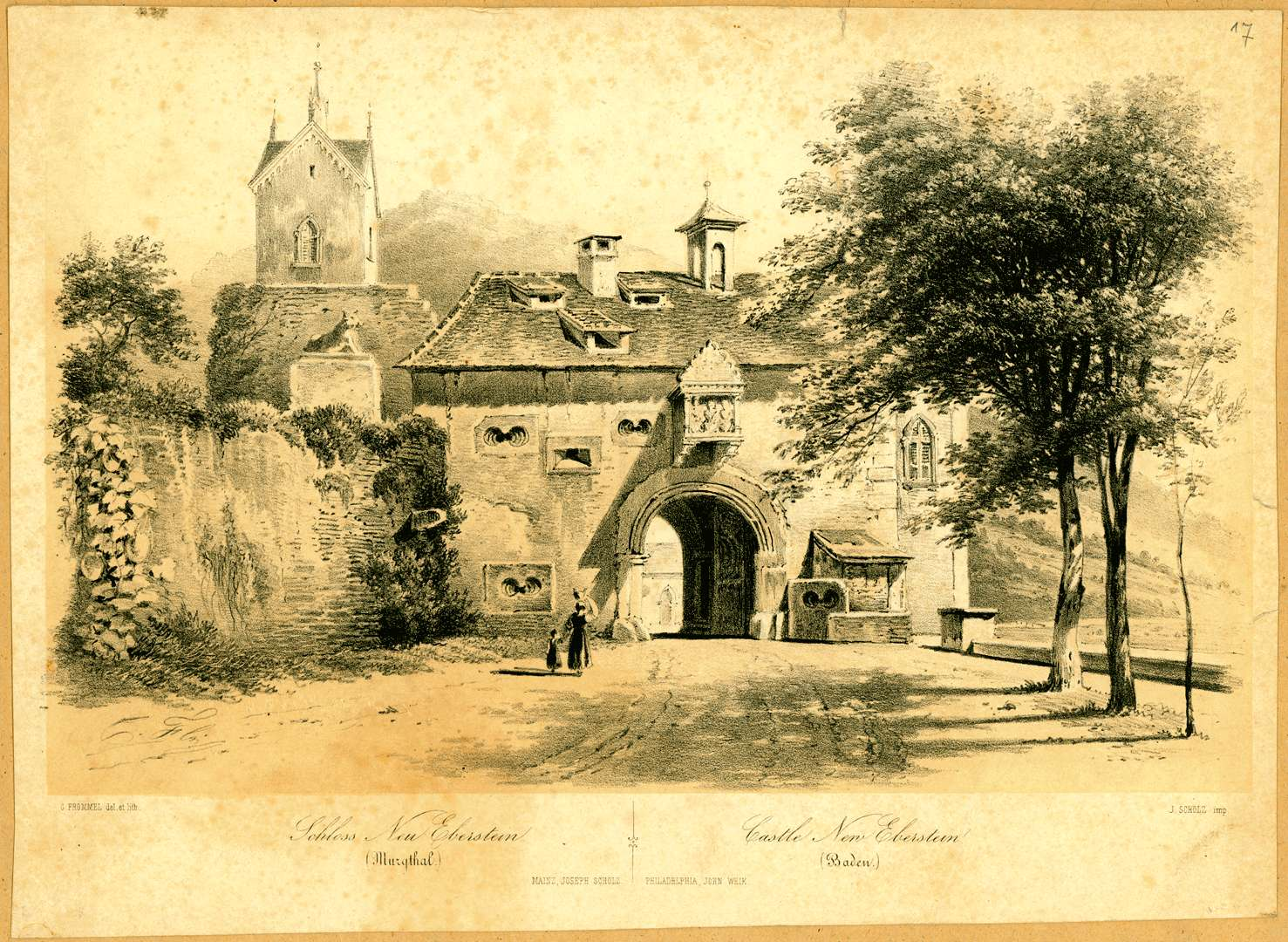 Schloss Neu Eberstein (Murgthal). Castle New Eberstein (Baden), Bild 1