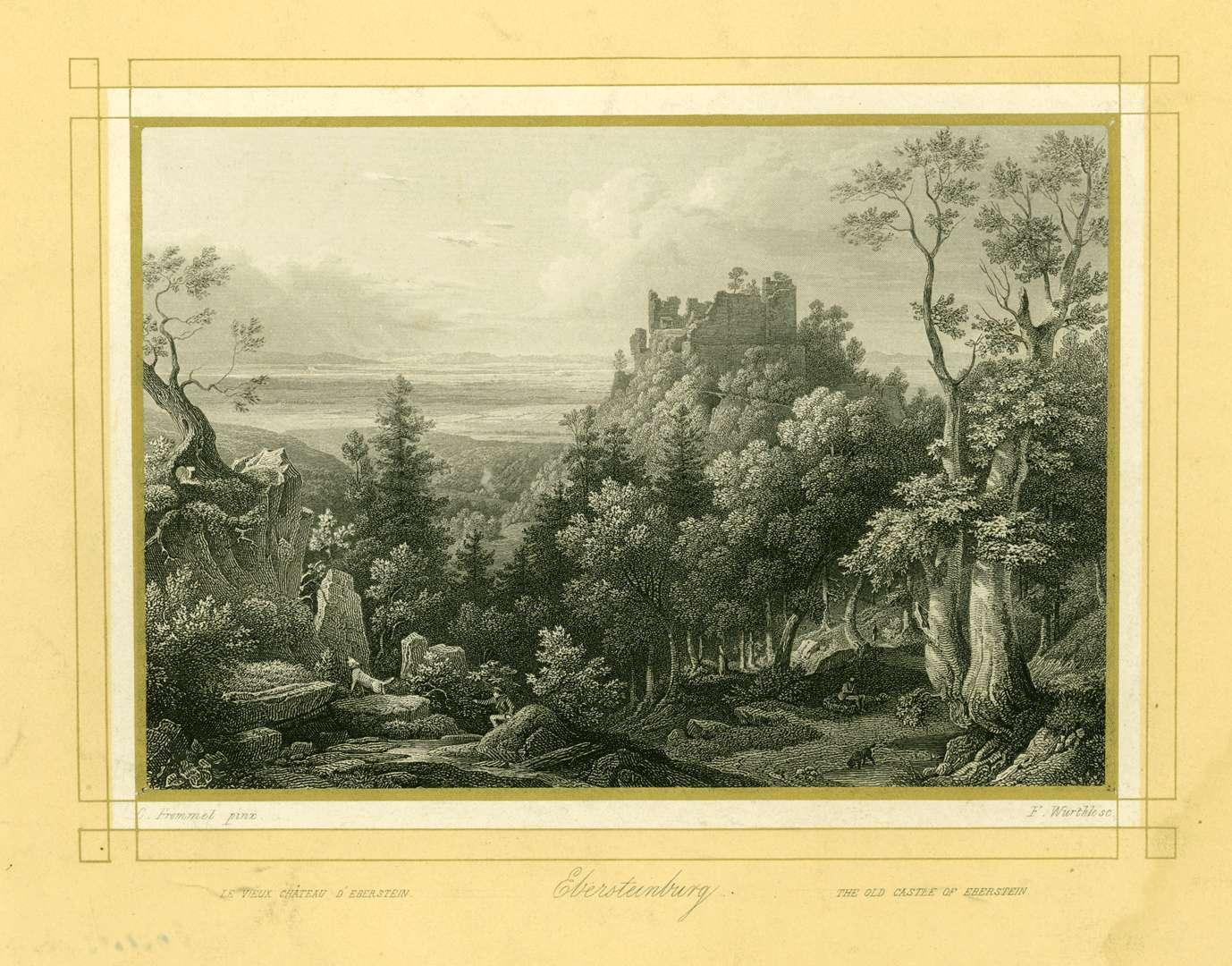 Ebersteinburg, vieux château d