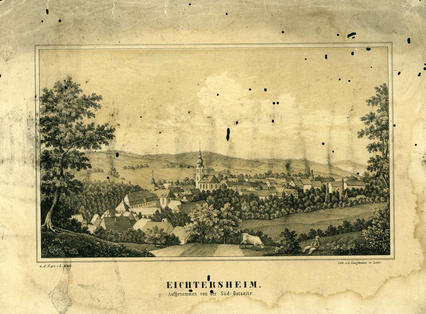 Eichtersheim aufgenommen von der Süd-Ostseite, Bild 1