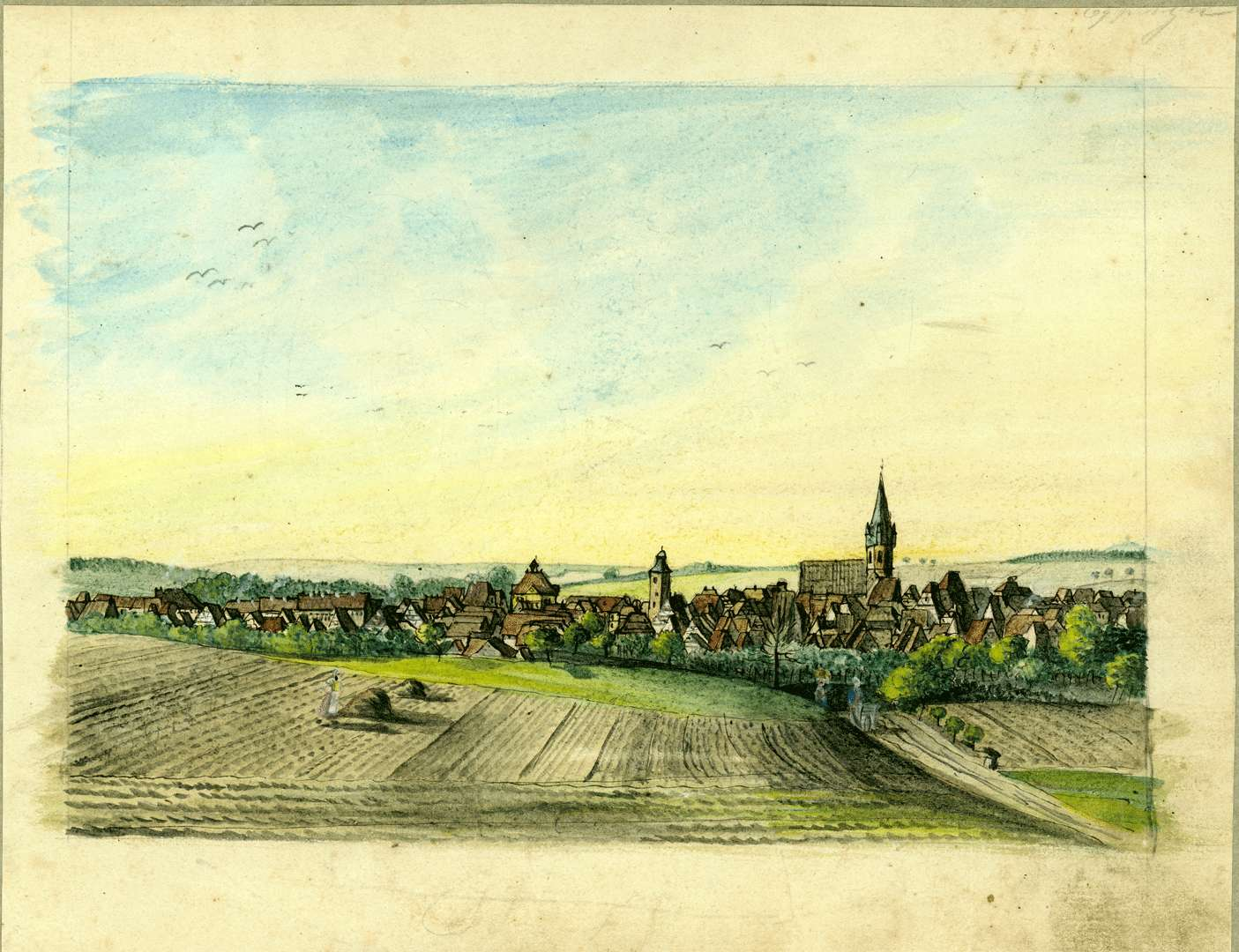 Ansicht der Stadt, Bild 1