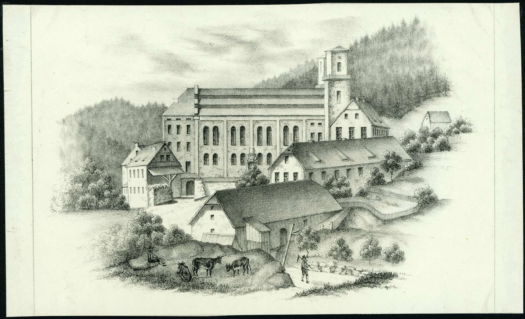 Klosterkirche vor dem letzten großen Brand 1853, Bild 1