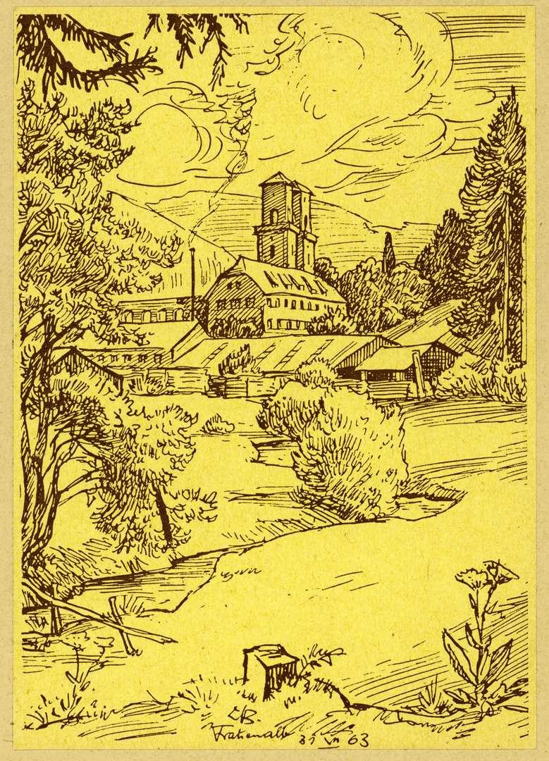 Ansicht der Klosterruine, Bild 1