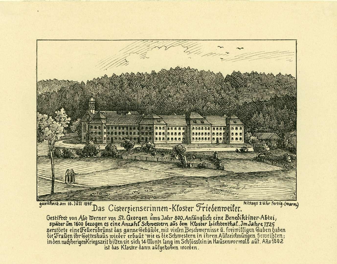 Das Cisterzienserinnen-Kloster Friedenweiler, Bild 1
