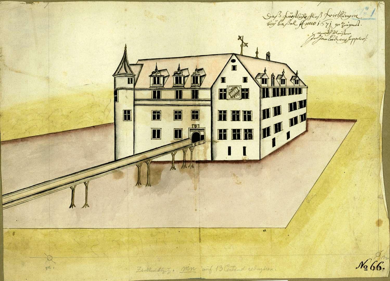 Das Fürstliche Schloß Frietlingen bey Basel, Bild 1