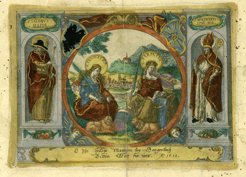 O Ihr Heilige Martyrer bey Gengenbach Bitten Gott für uns A[nn]o 1612, Bild 1