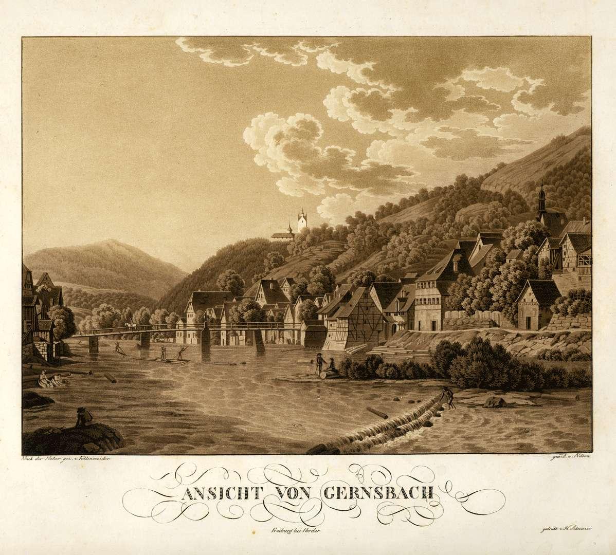 Ansicht von Gernsbach, Bild 1