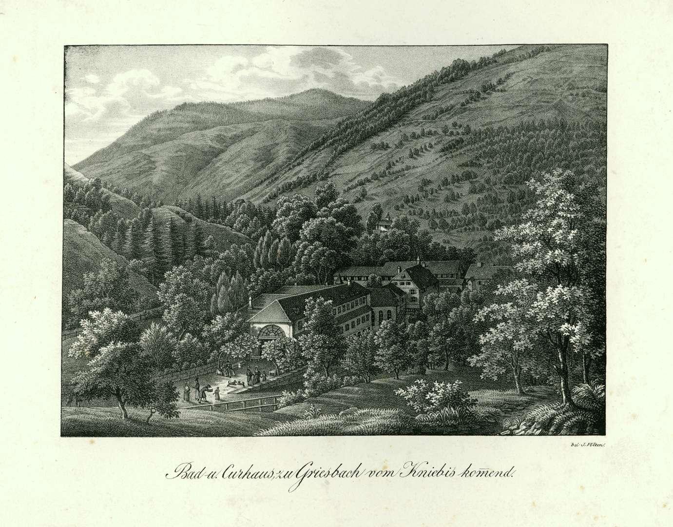 Bad u. Curhaus zu Griesbach vom Kniebis kommend, Bild 1