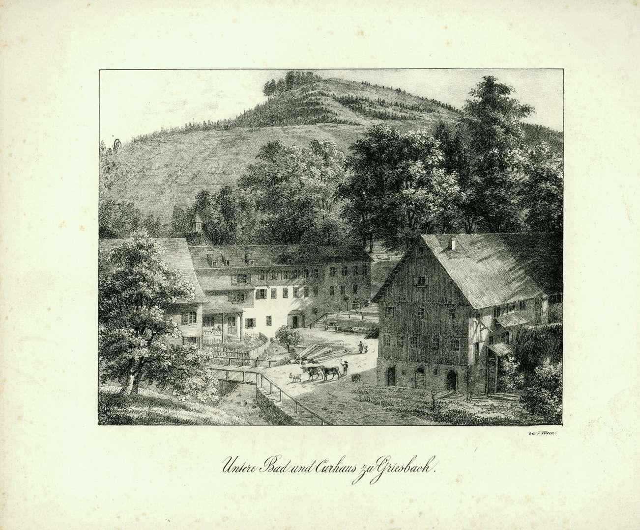 Untere Bad und Curhaus zu Griesbach, Bild 1
