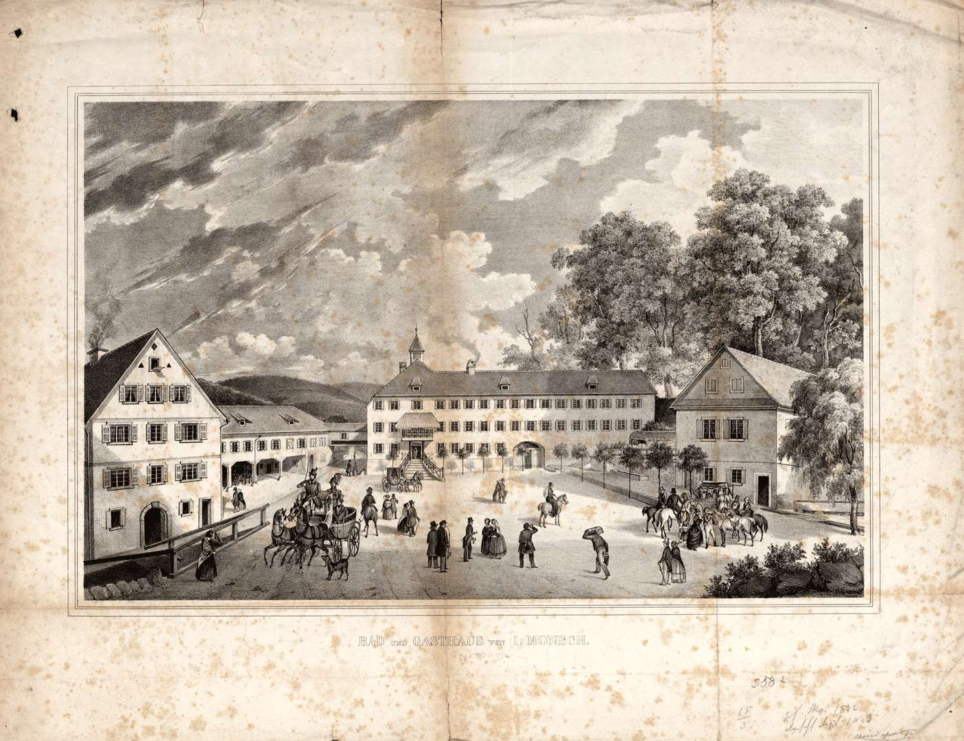 Bad und Gasthaus von J. Monsch in Griesbach, Bild 1