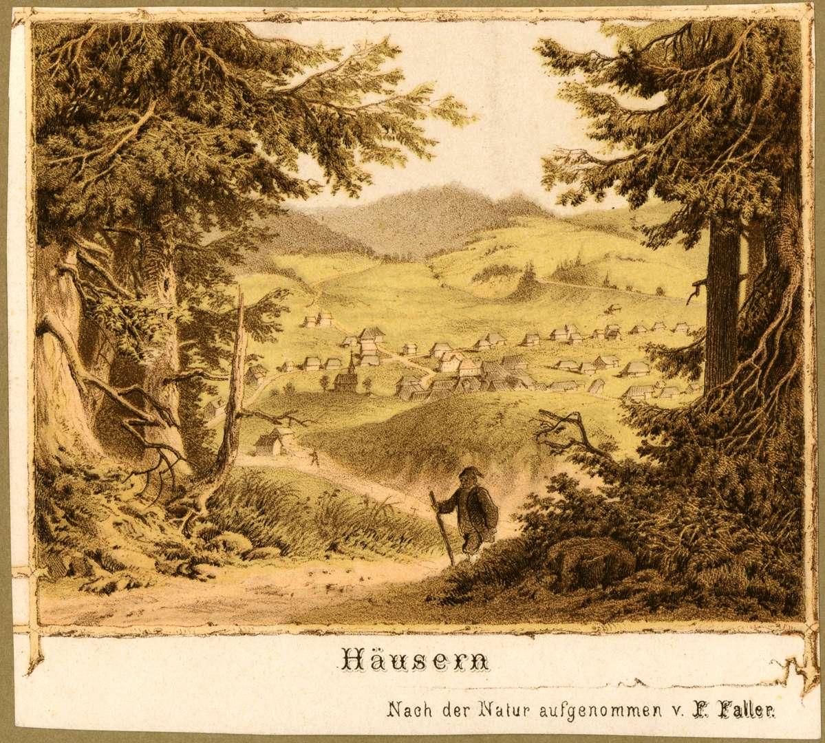 Ansicht der Gemeinde Häusern, Bild 1