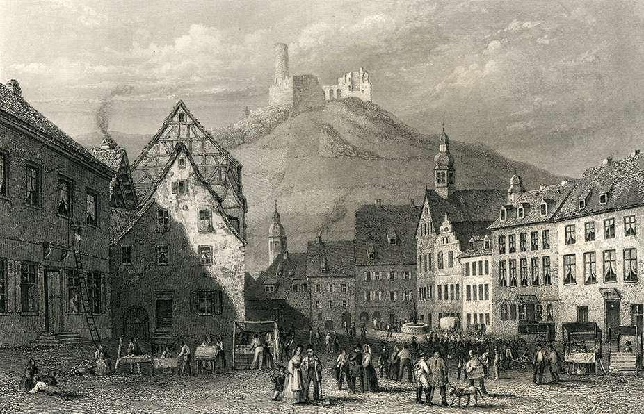 Marktplatz in Weinheim, Bild 1