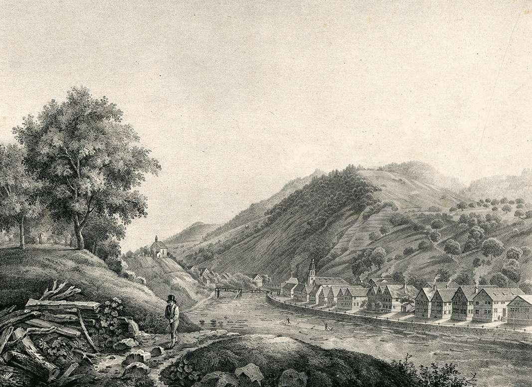 Ansicht von Weisenbach, Vue de Weisenbach, Bild 1