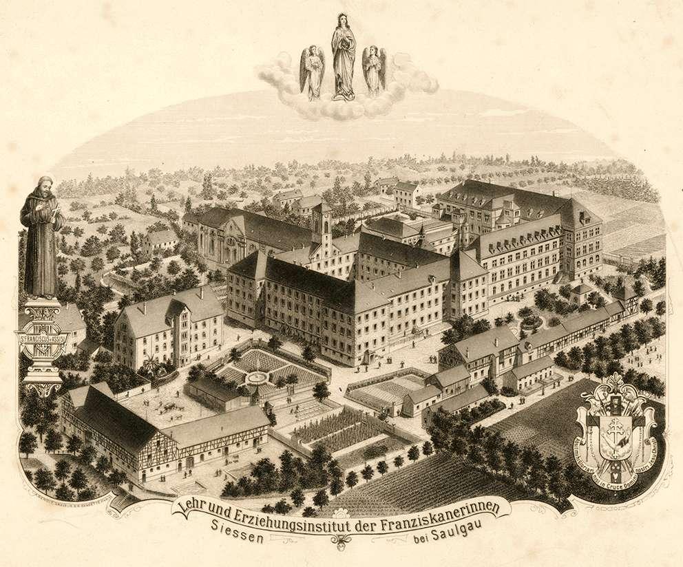 Lehr- und Erziehungsinstitut der Franziskanerinnen Siessen bei Saulgau, Bild 1
