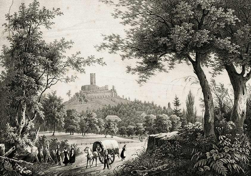 Ansicht vom Schlossberg mit Ruine, Bild 1