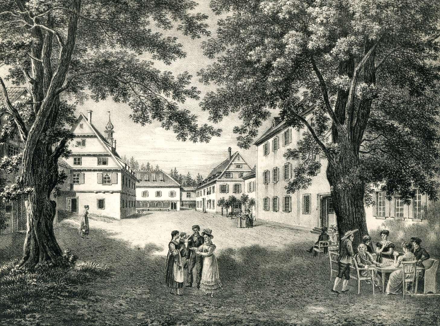 Ansicht des Sauerbrunnen