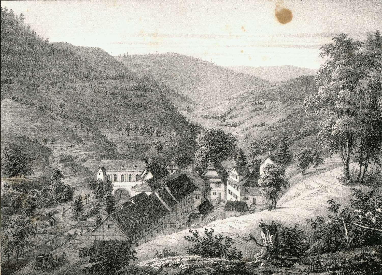 Ansicht von Rippoldsau, vom Kniebis kommend, Bild 1