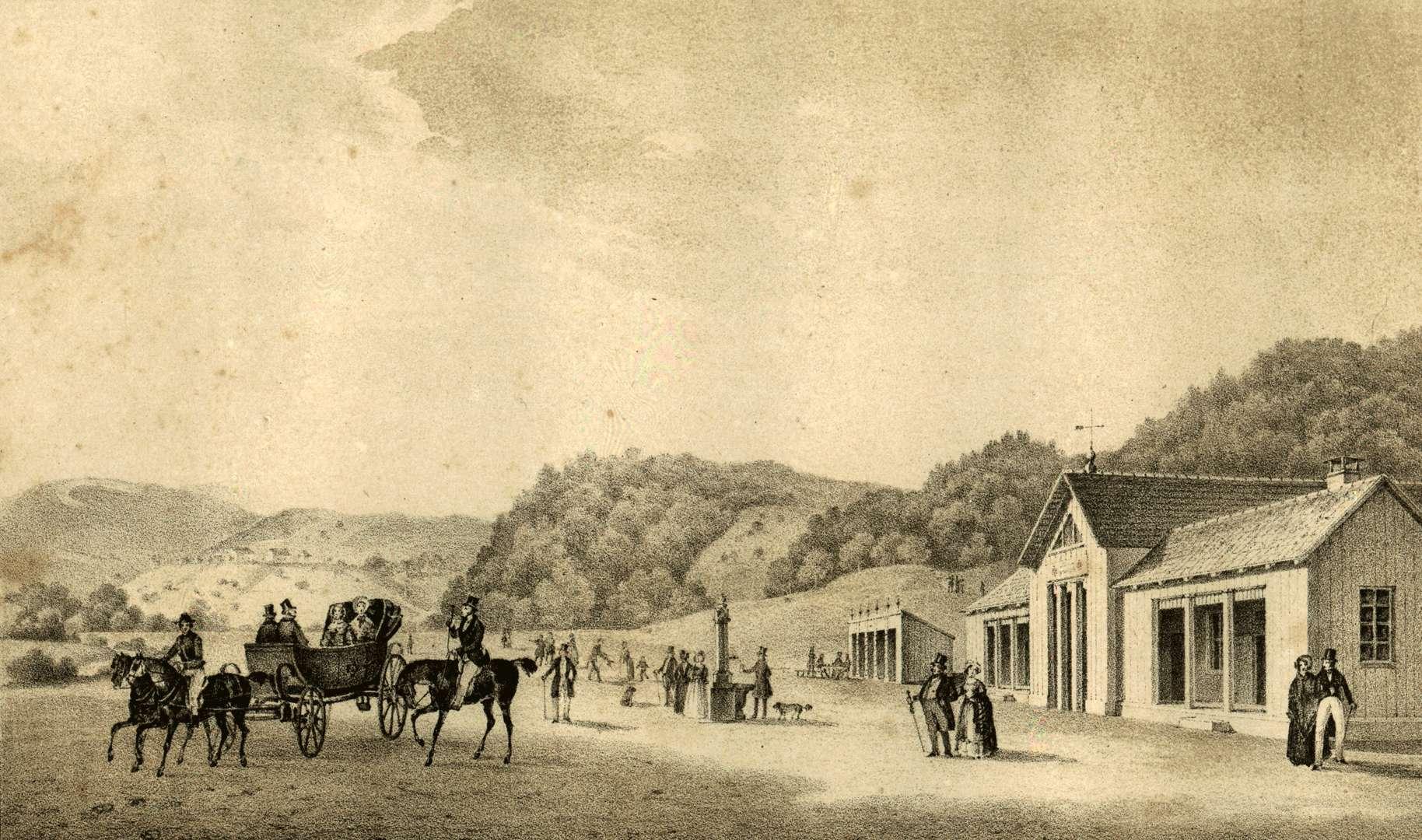 Ansicht der Elisabethen Quelle bei Rothenfels, Bild 1