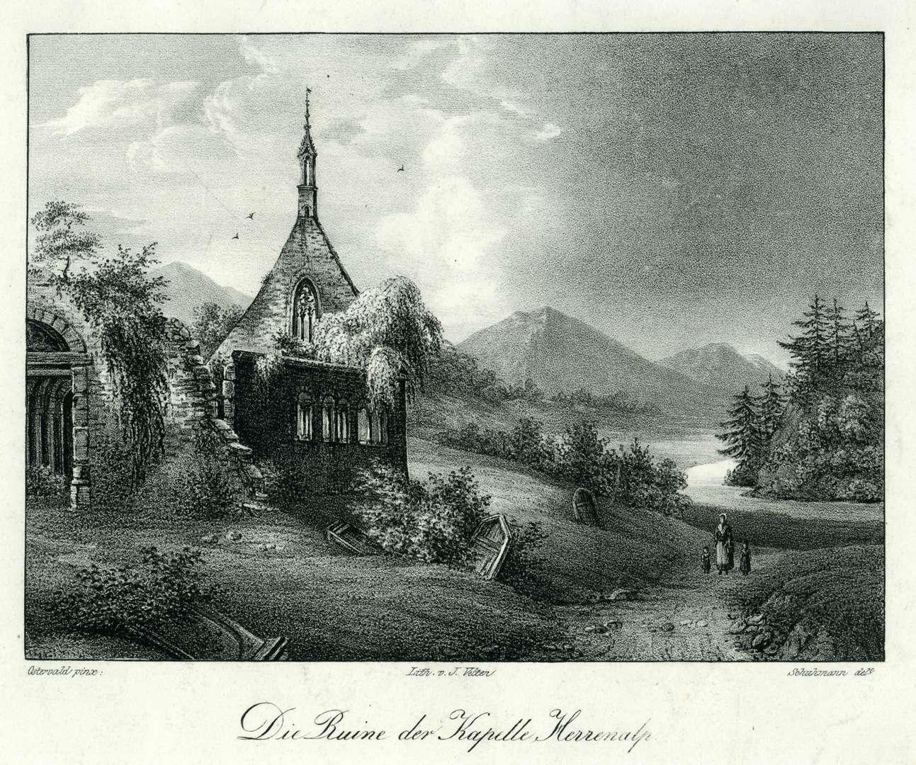 Die Ruine der Kapelle Herrenalp, Bild 1
