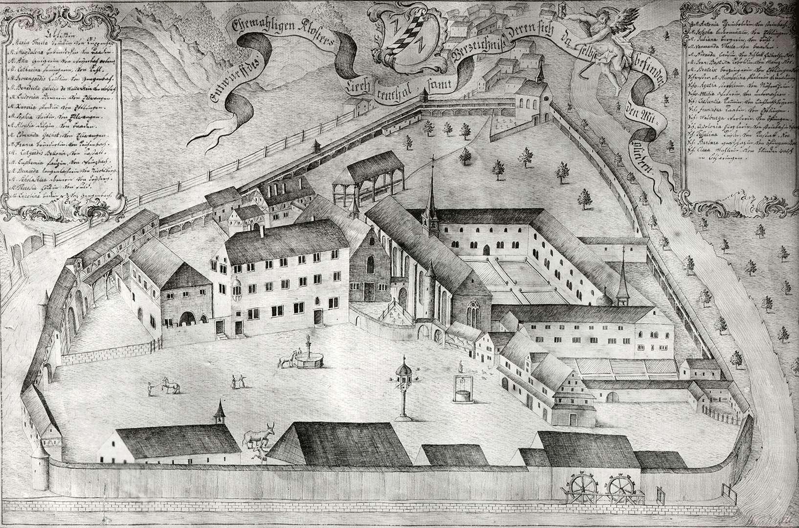 Entwurff des Ehemaligen Klosters Liechtenthal, samt Verzeichniß deren sich daselbst befindenden Mitgliedern, Bild 1