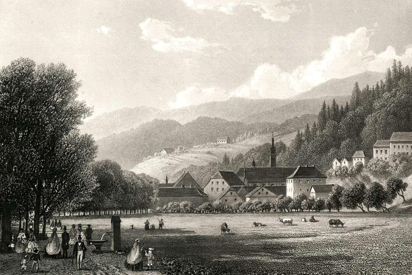 Ansicht von Lichtenthal, Vue de Lichtenthal, View of Lichtenthal, Bild 1
