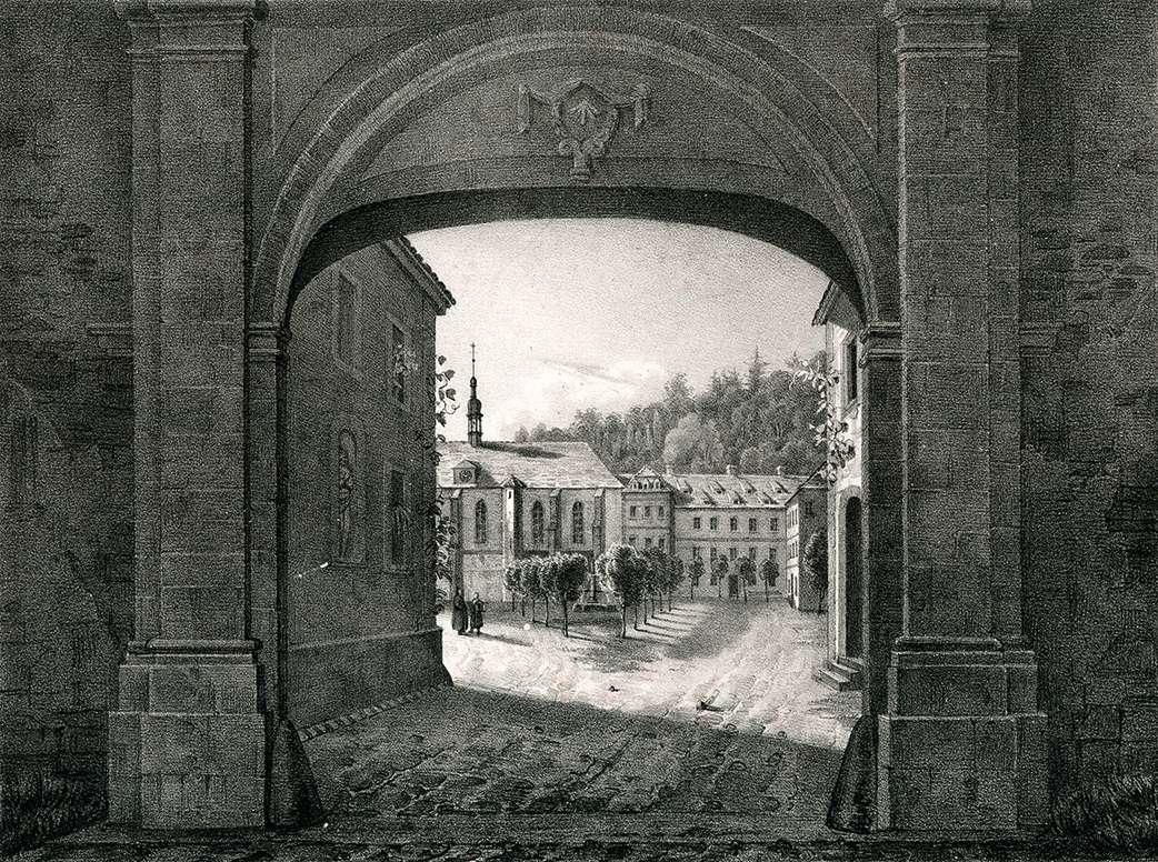 Der Eingang in das Kloster Lichtenthal, Entrée du Covent de Lichtenthal, Bild 1