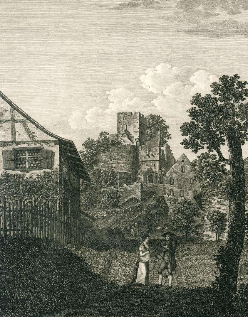 Ansicht der Burg Roeteln, Bild 1