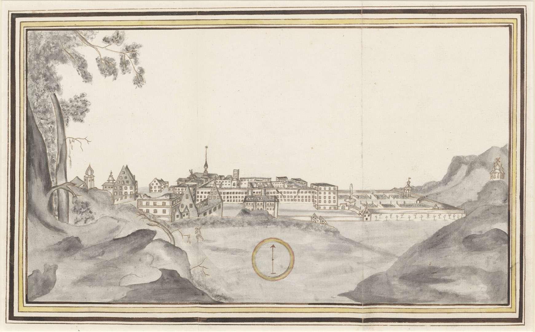 [Kloster St. Blasien nach dem Brand vom 23. Juli 1768], Bild 1