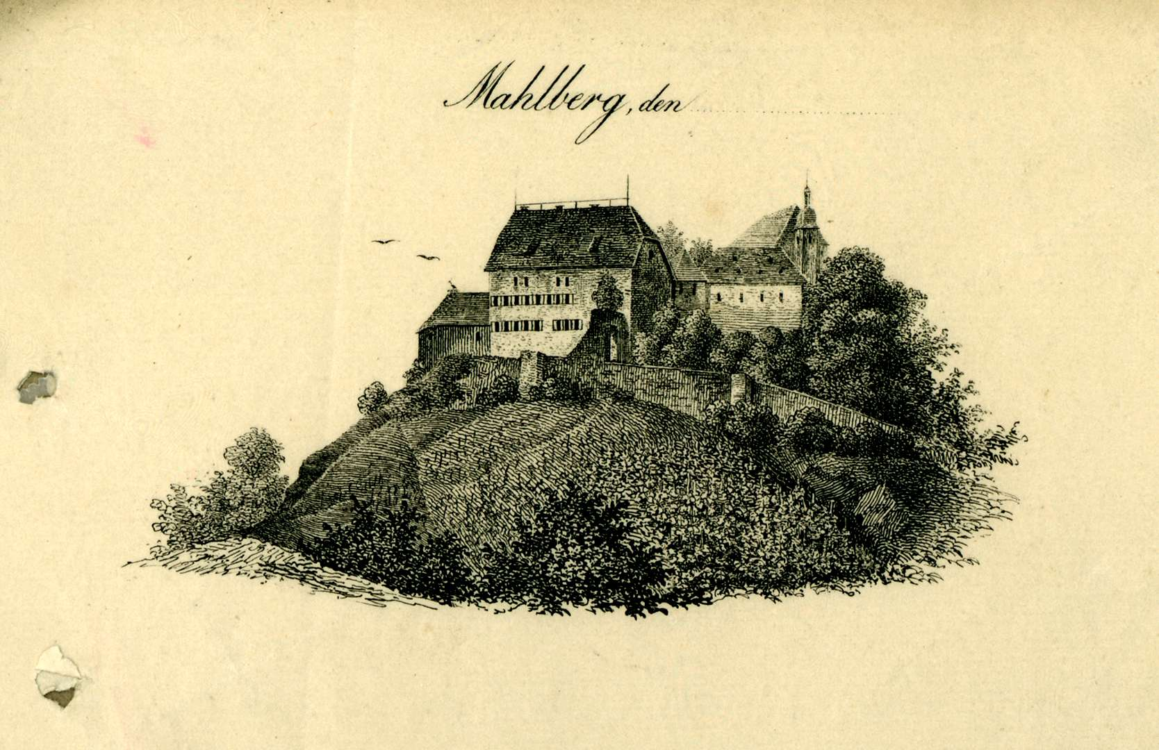 Ansicht des Schlosses von Mahlberg, Bild 1