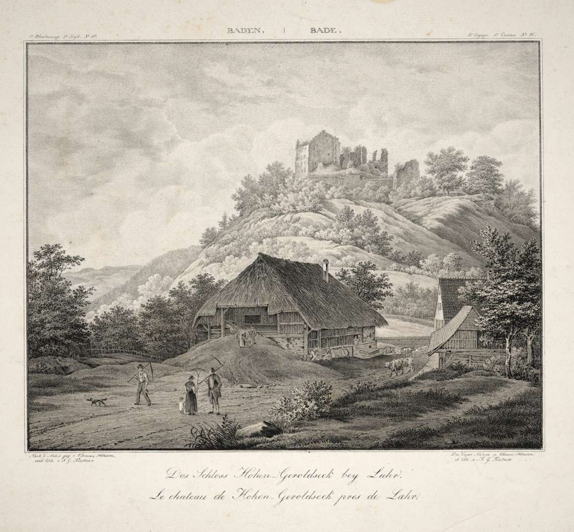 Das Schloß Hohen-Geroldseck bey Lahr, le Chateau de Hohen-Geroldseck pres de Lahr, Bild 1