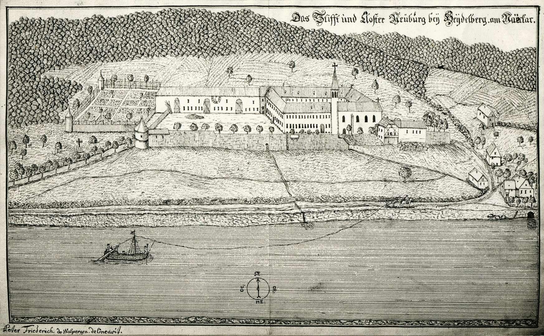 Das Stifft und Closter Neuburg bey Heydelberg am Naeckar, Bild 1