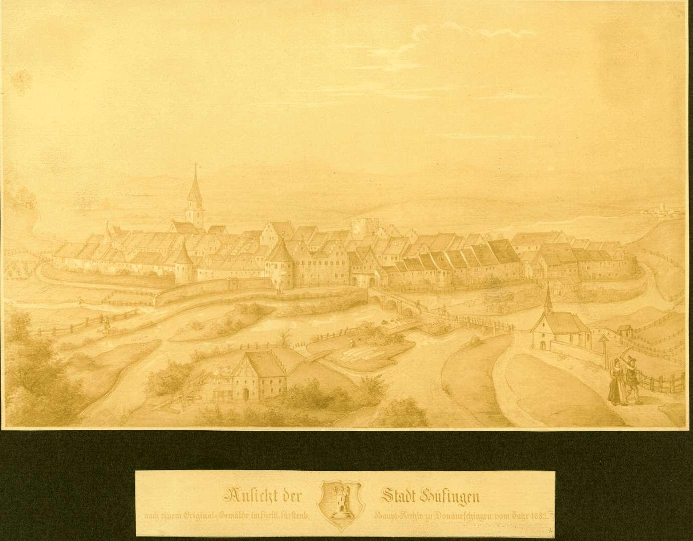Ansicht der Stadt Hüfingen, Bild 1