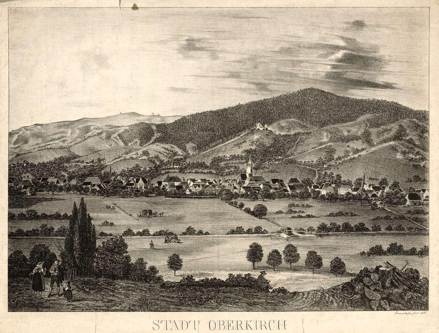 Stadt Oberkirch von Butschbach aus gesehen, Bild 1