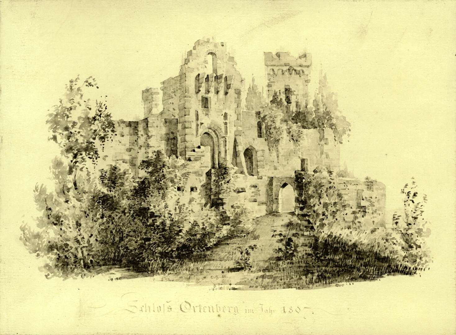 Schloss Ortenberg im Jahr 1807, Bild 1
