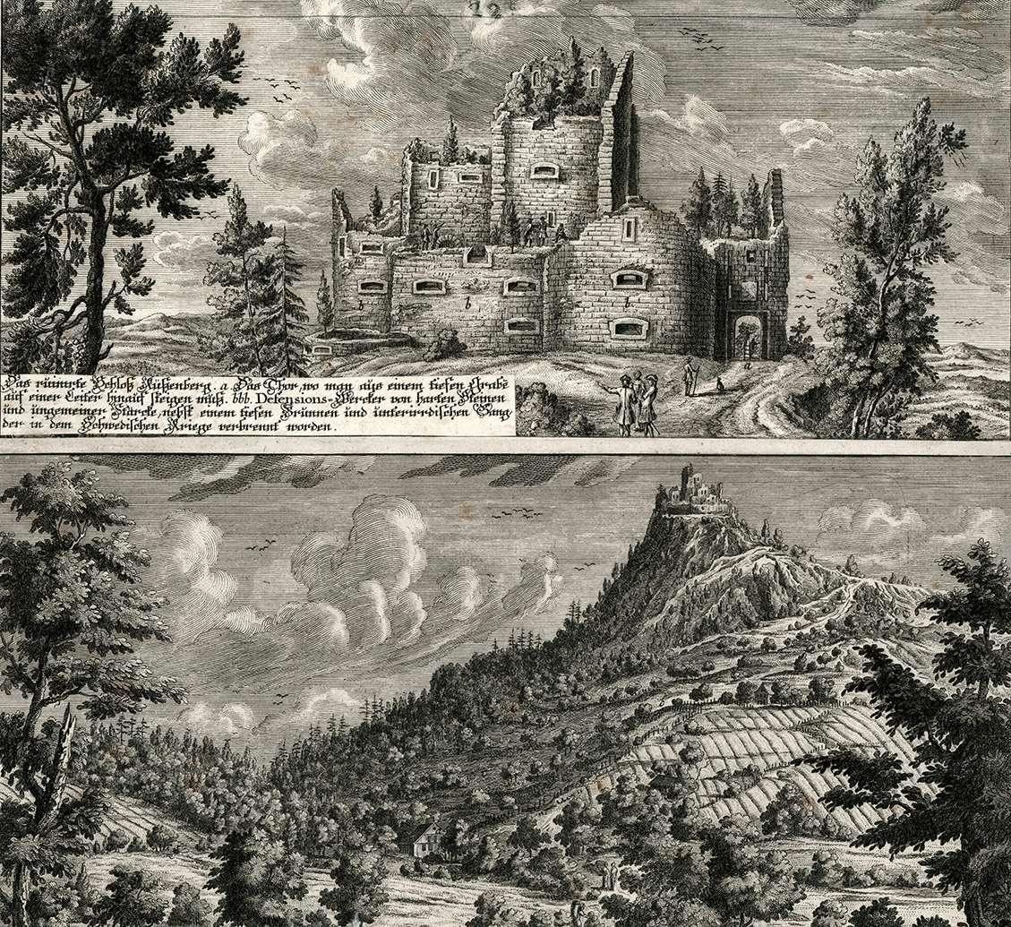 Das ruinirte Schloß Küßenberg, Bild 1