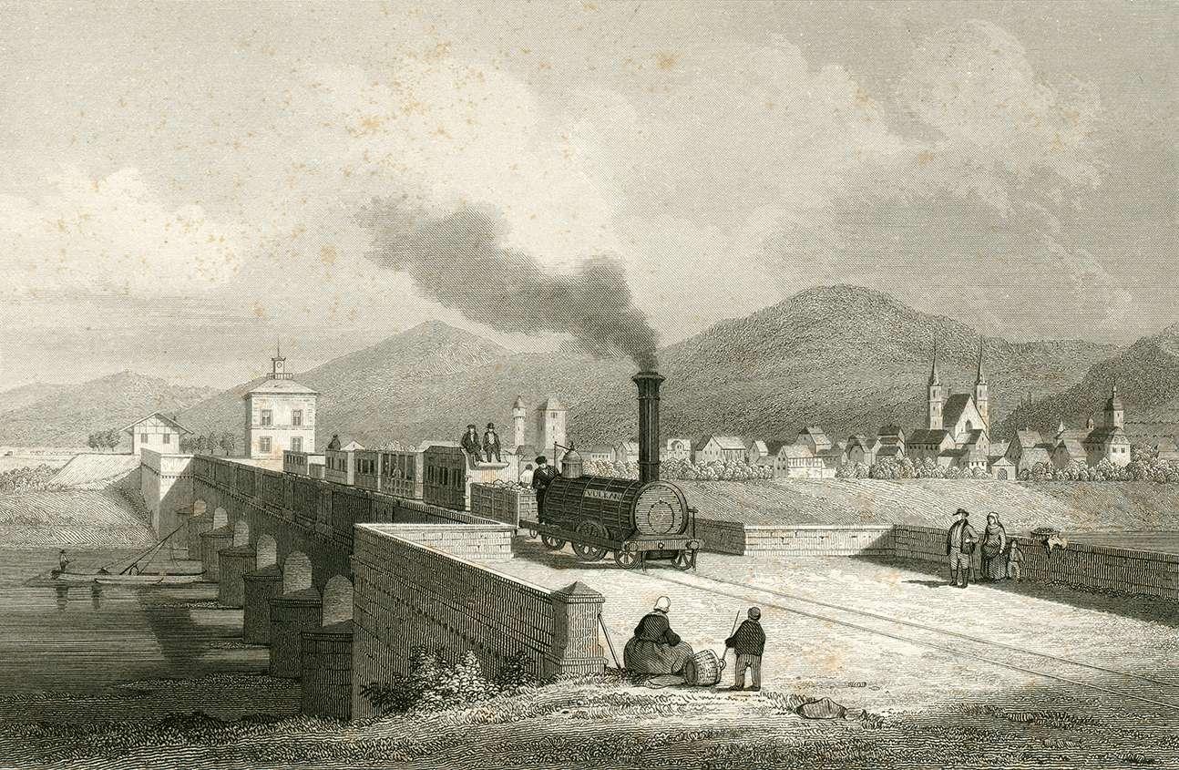 Ladenburg neue Eisenbahnbrücke, Bild 1