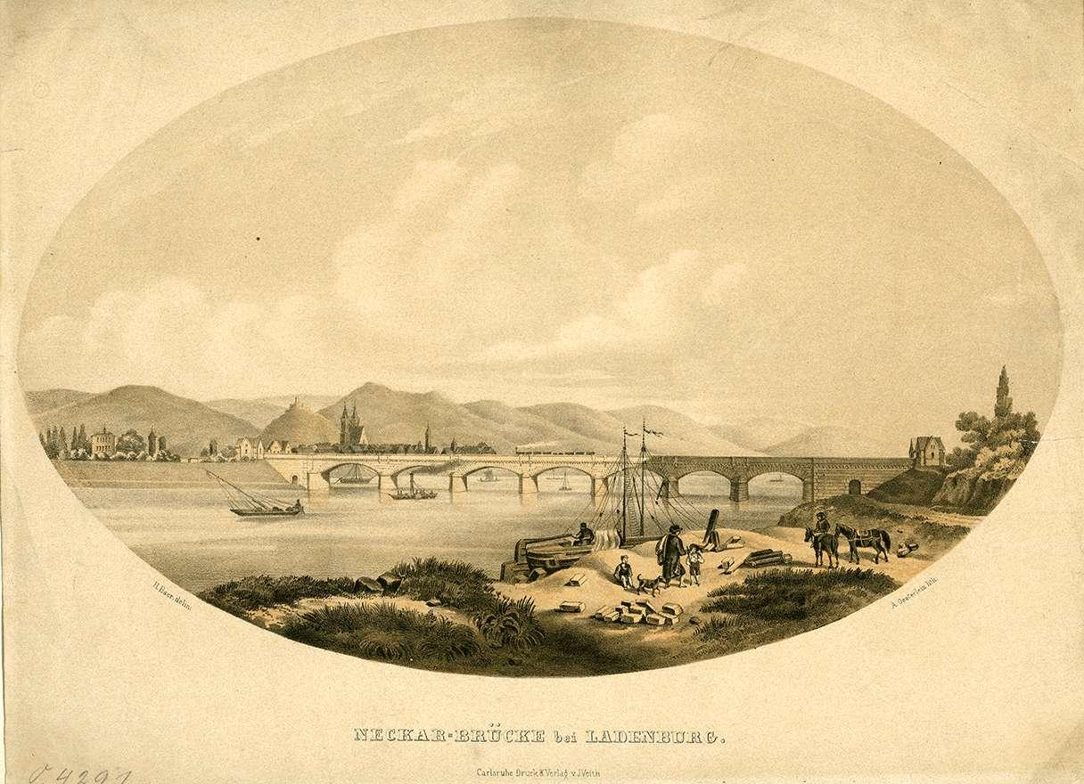 Neckar-Brücke bei Ladenburg, Bild 1