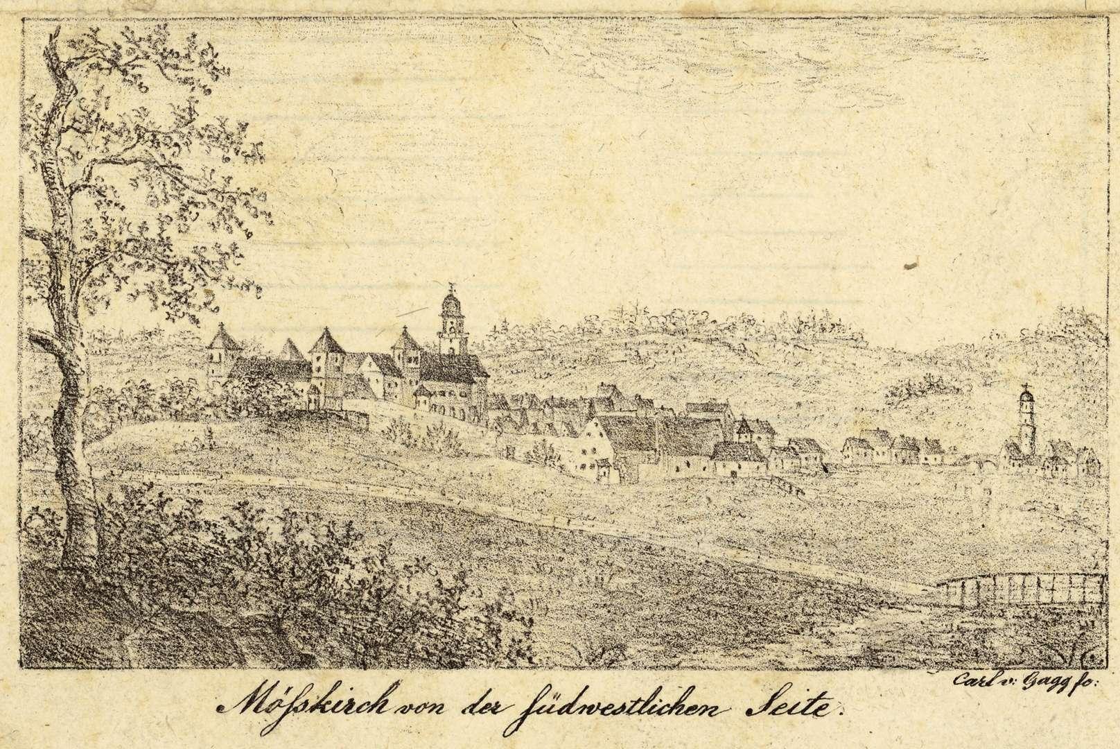 Moesskirch von der südwestlichen Seite, Bild 1