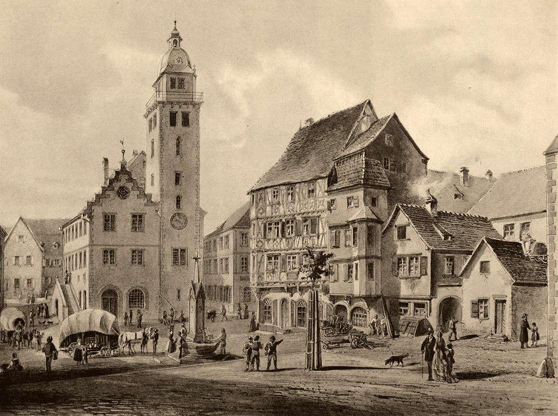 Marktplatz in Mosbach, Bild 1