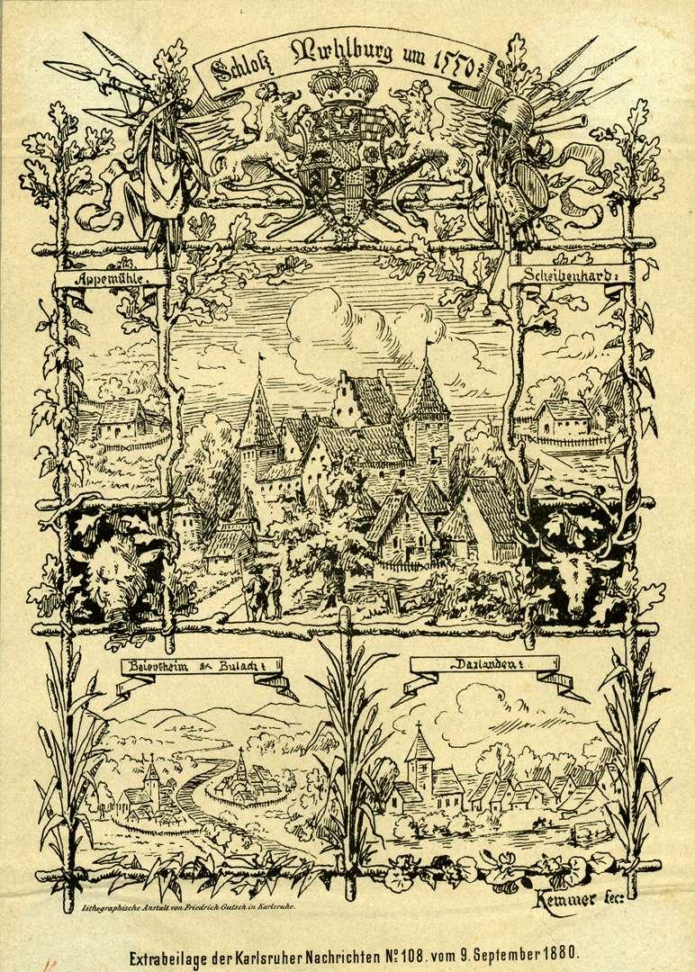Schloss Mühlburg um 1550, Bild 1