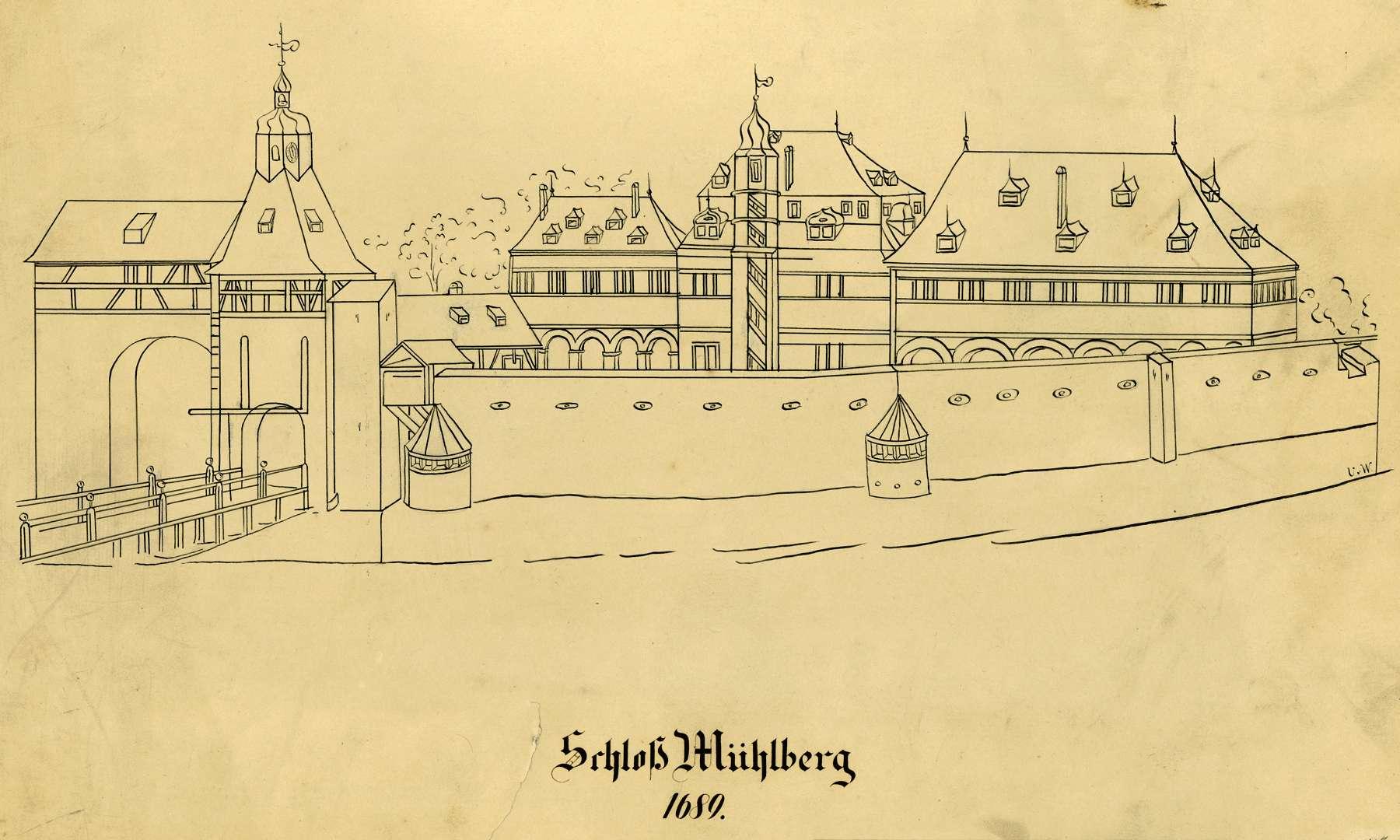 Schloß Mühlberg 1689, Bild 1