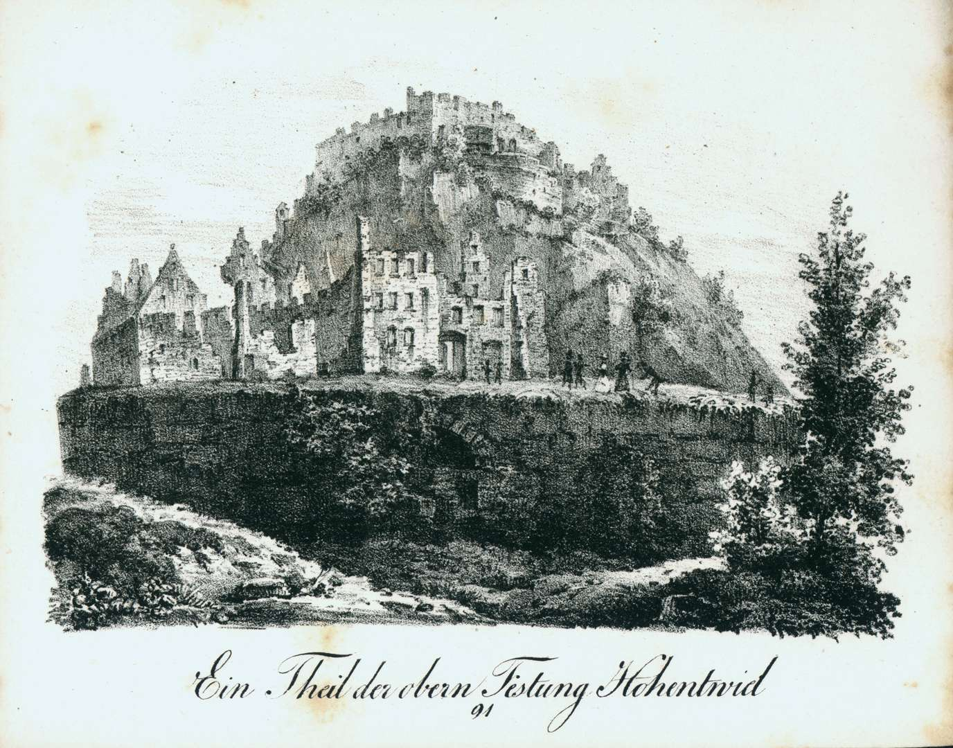 Ein Theil der obern Festung Hohentwiel, Bild 1