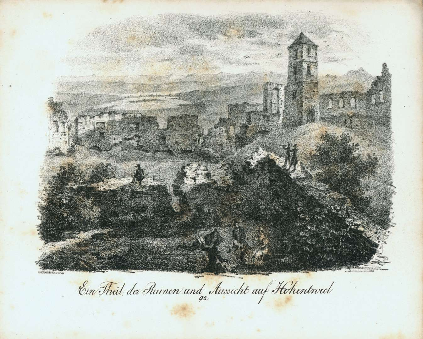 Ein Theil der Ruinen und Aussicht auf Hohentwiel, Bild 1