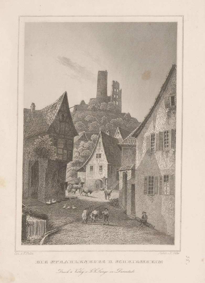Die Strahlenburg u[nter] Schriessheim, Bild 1