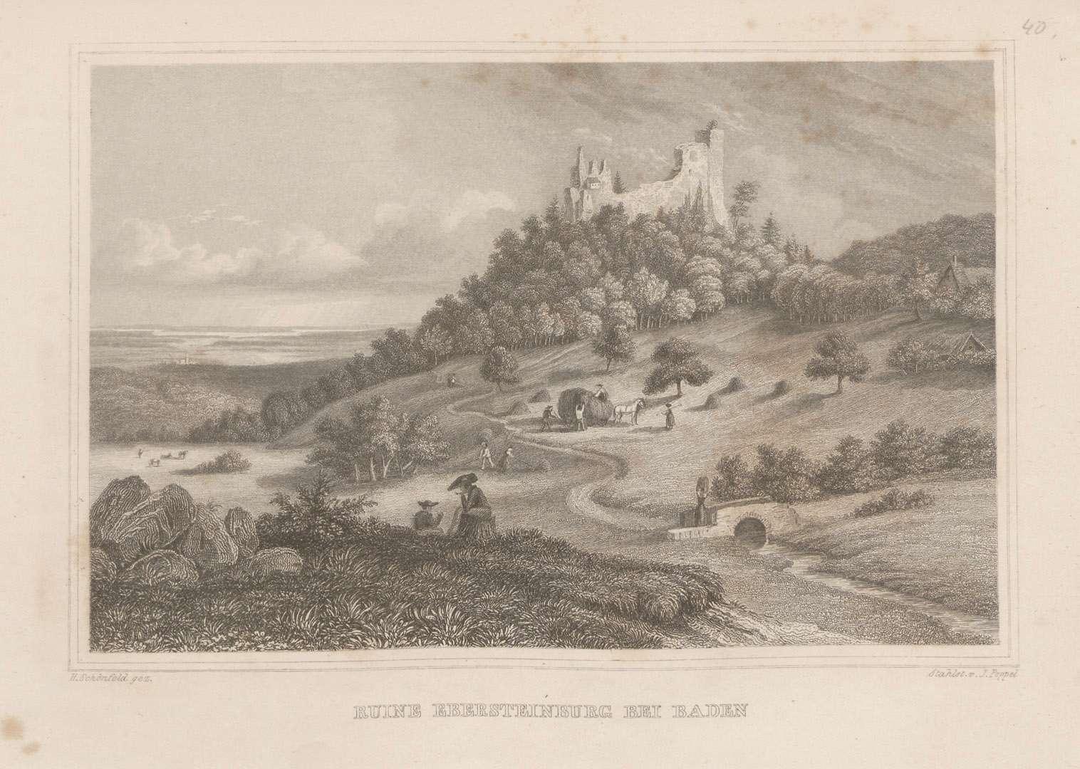Ruine Ebersteinburg bei Baden[-Baden], Bild 1