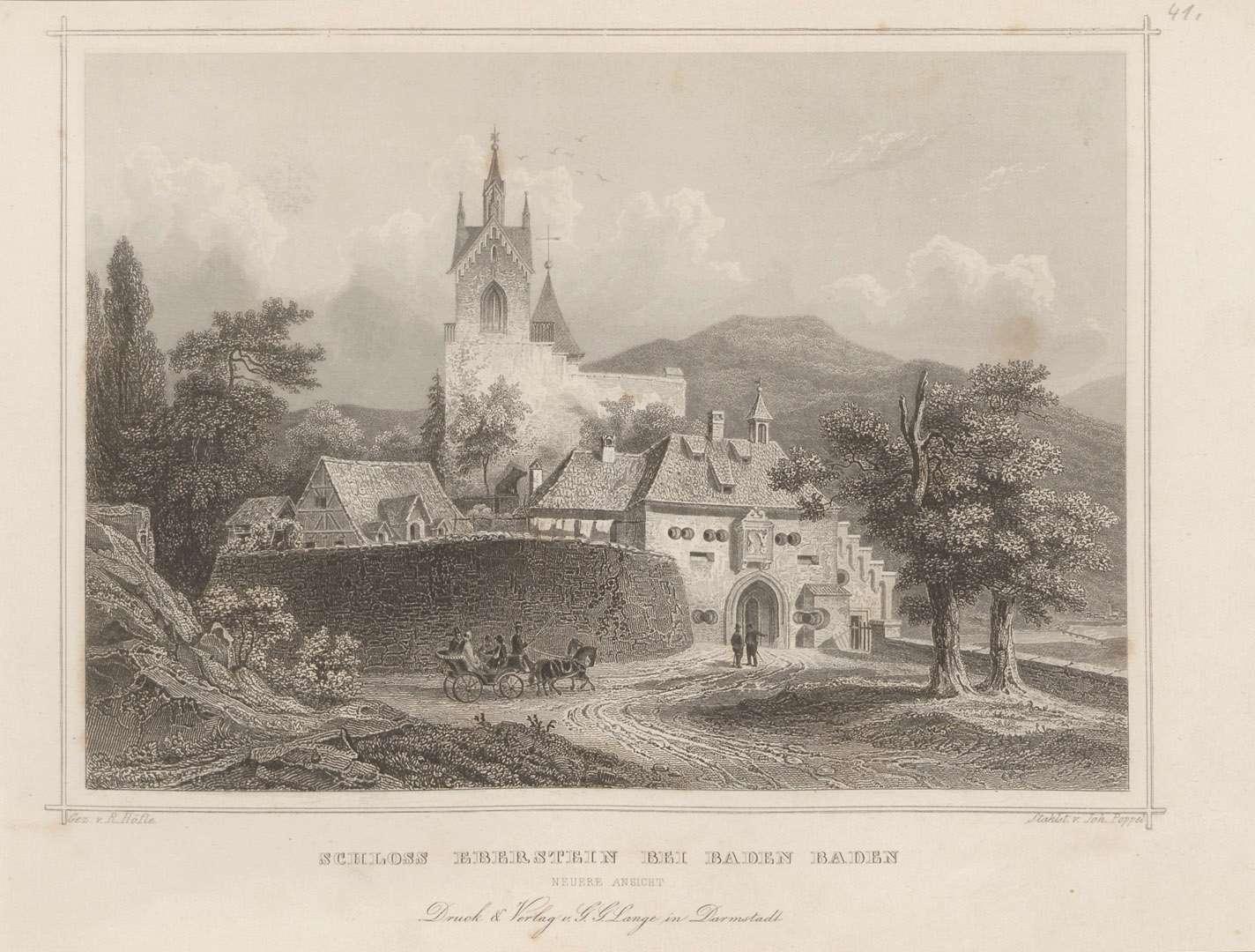 Schloss Eberstein bei Baden Baden. Neuere Ansicht, Bild 1