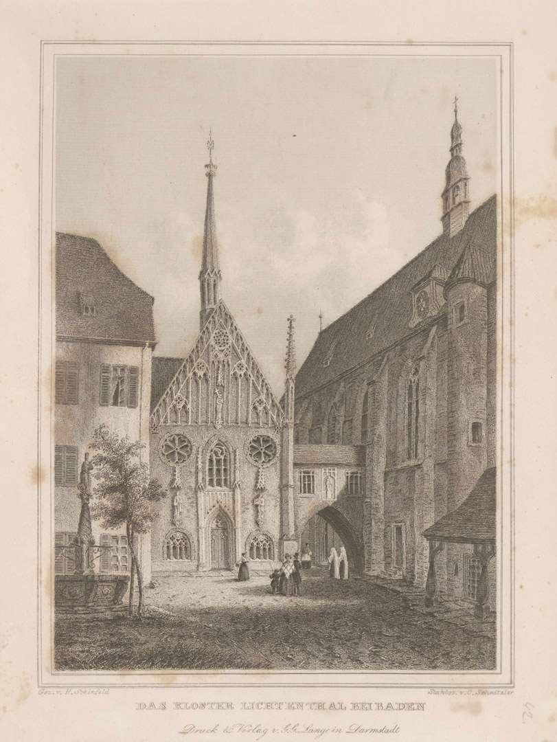 Das Kloster Lichtenthal bei Baden[-Baden], Bild 1